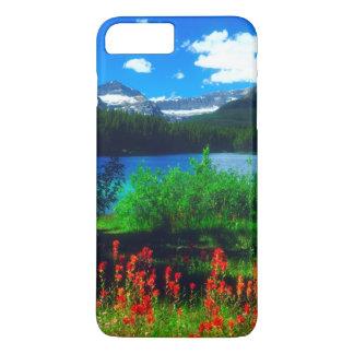 Coque iPhone 7 Plus Fleurs sauvages de pinceau indien
