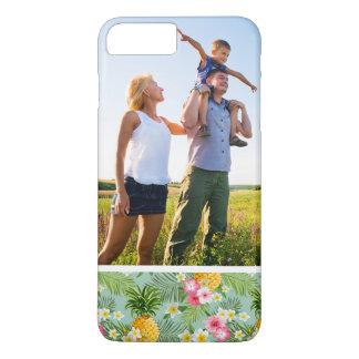 Coque iPhone 7 Plus Fleurs tropicales et ananas de photo faite sur