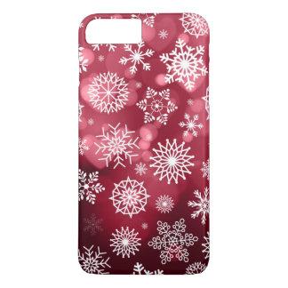 Coque iPhone 7 Plus Flocons de neige sur un cas de téléphone de