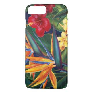 Coque iPhone 7 Plus Floral hawaïen de paradis tropical
