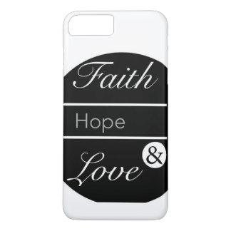 Coque iPhone 7 Plus Foi, espoir, et amour