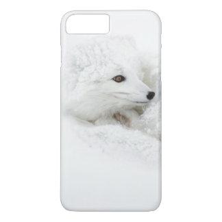 Coque iPhone 7 Plus Fox arctique courbé en hiver