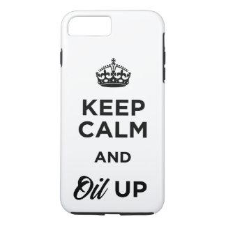 Coque iPhone 7 Plus Gardez le calme et huilez