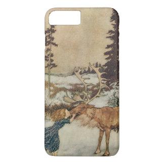 Coque iPhone 7 Plus Gerda vintage et le renne par Edmund Dulac