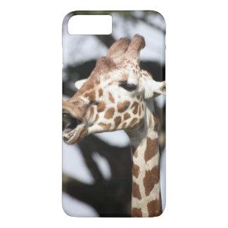 Coque iPhone 7 Plus Girafe réticulée faite face drôle, San Francisco