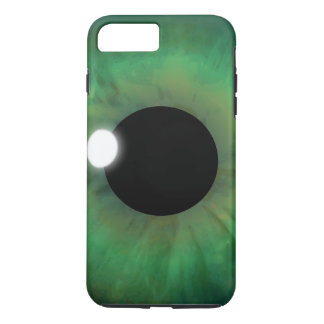 Coque iPhone 7 Plus Globe oculaire frais d'iris d'oeil vert d'eyePhone
