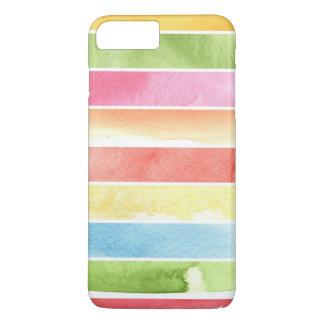 Coque iPhone 7 Plus grand arrière - plan d'aquarelle - peintures 2