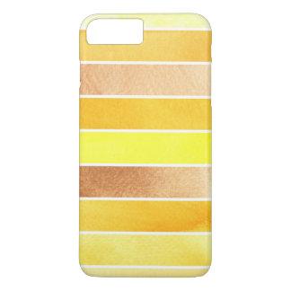Coque iPhone 7 Plus grand arrière - plan jaune d'aquarelle - aquarelle
