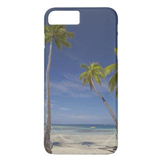 Coque iPhone 7 Plus Hamac et palmiers, île-hôtel de plantation