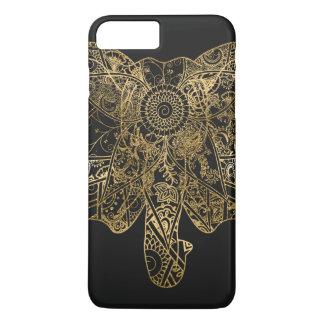 Coque iPhone 7 Plus Henné tiré par la main d'éléphant mignon floral