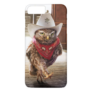 Coque iPhone 7 Plus Hibou occidental dur de shérif avec l'attitude et