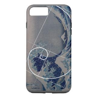 Coque iPhone 7 Plus Hokusai rencontre Fibonacci, rapport d'or