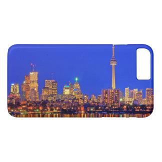 Coque iPhone 7 Plus Horizon du centre de Toronto la nuit