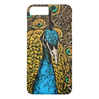 Coque iPhone 7 Plus Illustration de splendeur de paon