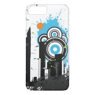 Coque iPhone 7 Plus Illustration d'un paysage urbain sale