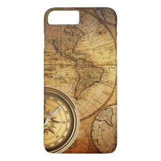 Coque iPhone 7 Plus iPhone 7 de boussole et de carte plus, à peine là