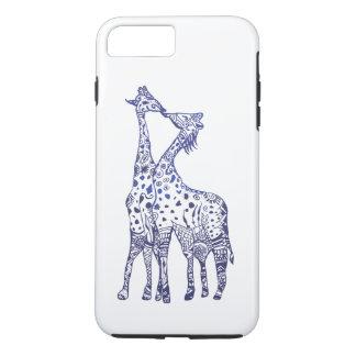 Coque iPhone 7 Plus iPhone d'Apple 8 Plus/7 plus, baiser dur d'animaux