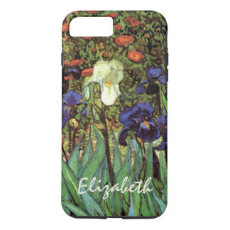 Coque iPhone 7 Plus Iris de Van Gogh, beaux-arts vintages de jardin