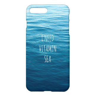 Coque iPhone 7 Plus J'AI BESOIN DE LA MER de VITAMINE - point de droit