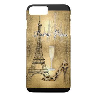 Coque iPhone 7 Plus J'aime des chaussures de mode de Tour Eiffel de