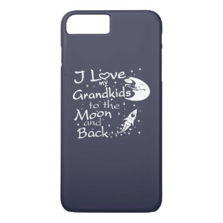 Coque iPhone 7 Plus J'aime mes GrandKids à la lune et au dos