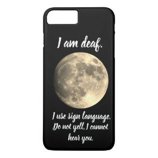 Coque iPhone 7 Plus Je suis communication utile sourde de pleine lune