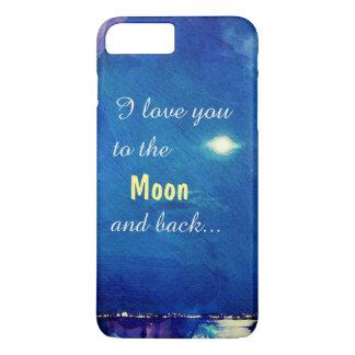 Coque iPhone 7 Plus Je t'aime à la lune et au Nightsky arrière