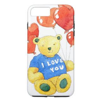 Coque iPhone 7 Plus Je t'aime ours - ballon 2011
