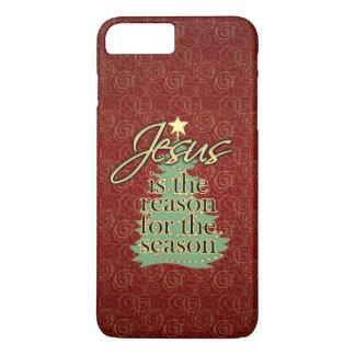 Coque iPhone 7 Plus Jésus est Noël de chrétien de raison