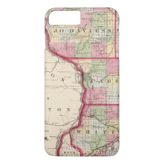 Coque iPhone 7 Plus Jo Daviess, Carroll, comtés de Whiteside