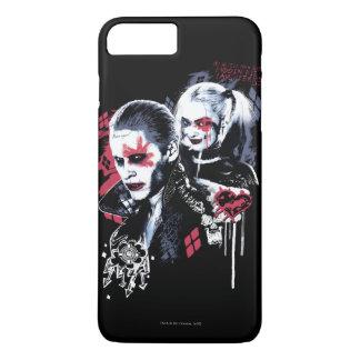 Coque iPhone 7 Plus Joker du peloton | de suicide et graffiti peint
