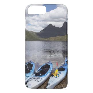 Coque iPhone 7 Plus Kayaks, montagne de berceau et lac dove, berceau