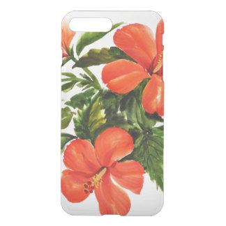 Coque iPhone 7 Plus Ketmie rouge chaude