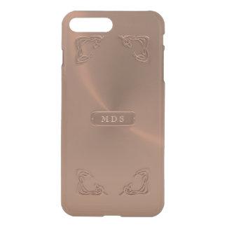 Coque iPhone 7 Plus La fantaisie rose 3D métallique d'or de Faux