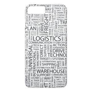 Coque iPhone 7 Plus La LOGISTIQUE modèle avec des mots