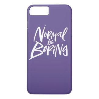 Coque iPhone 7 Plus La normale est le pourpre ultra-violet de lettrage