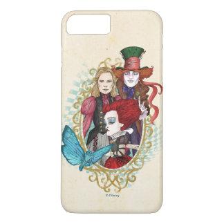 Coque iPhone 7 Plus La reine, l'Alice et le chapelier fou 3