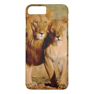 Coque iPhone 7 Plus L'Afrique, Namibie, Okonjima. Lion et lionne