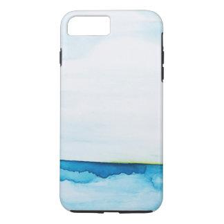 Coque iPhone 7 Plus L'aquarelle instantanée verte d'océan