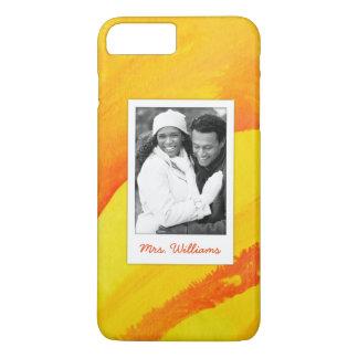 Coque iPhone 7 Plus L'aquarelle jaune sur le papier | ajoutent la