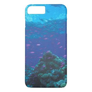 Coque iPhone 7 Plus L'Australie, la Grande barrière de corail. Pourpre