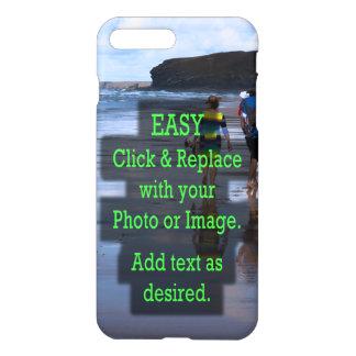 Coque iPhone 7 Plus Le clic simple et remplacent la photo pour créer