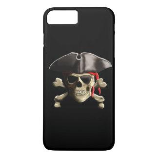 Coque iPhone 7 Plus Le crâne de pirate de jolly roger