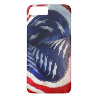 Coque iPhone 7 Plus Le drapeau du cas des Etats-Unis d'Amérique iPod