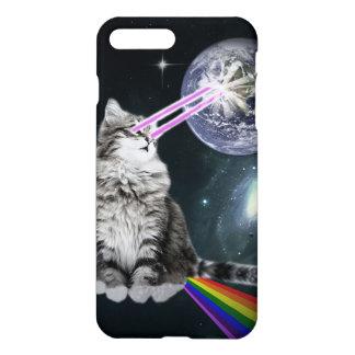 Coque iPhone 7 Plus Le laser de Bioworld observe le chat de l'espace