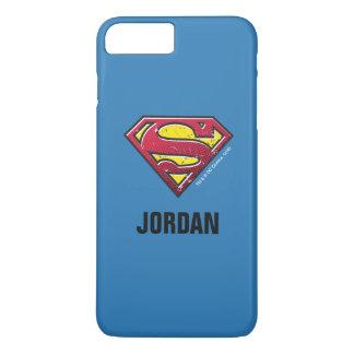 Coque iPhone 7 Plus Le logo | d'éraflures du S-Bouclier | de Superman