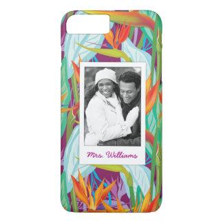 Coque iPhone 7 Plus Le motif | de Strelitzia ajoutent votre photo et