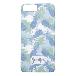 Coque iPhone 7 Plus Le motif en pastel tropical | d'ananas ajoutent