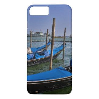 Coque iPhone 7 Plus L'eau de canal grand avec des bateaux de gondalo