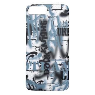 Coque iPhone 7 Plus Légendes urbaines de Batman - bleu des textes de